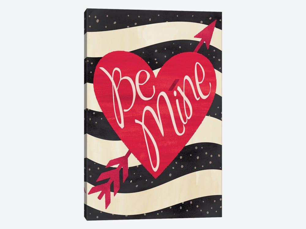 Be Mine Flag by Erin Clark 1-piece Canvas Wall Art