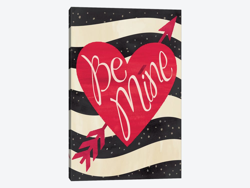 Be Mine Flag by Erin Clark 1-piece Canvas Wall Art