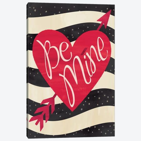 Be Mine Flag Canvas Print #ECK29} by Erin Clark Canvas Wall Art