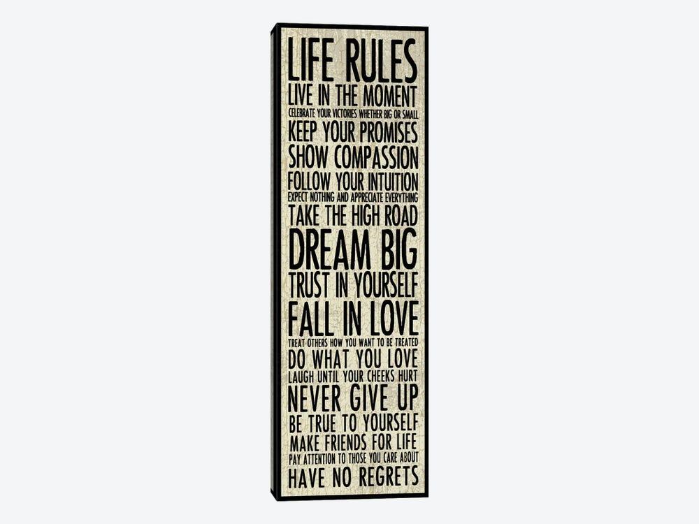 Life Rules by Erin Clark 1-piece Art Print