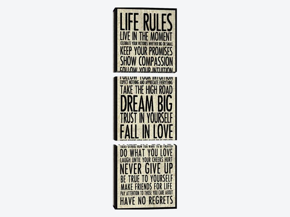 Life Rules by Erin Clark 3-piece Art Print