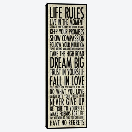 Life Rules Canvas Print #ECK300} by Erin Clark Canvas Art