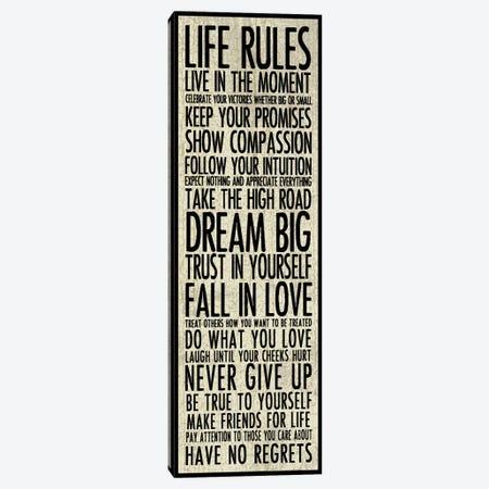Life Rules Canvas Print #ECK300} by Erin Clark Canvas Art