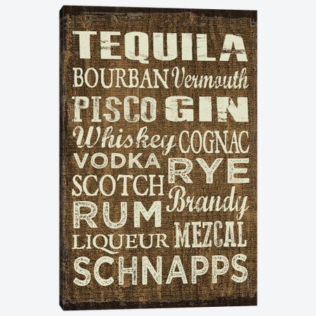 Liquor Sign II Canvas Print #ECK302} by Erin Clark Canvas Wall Art