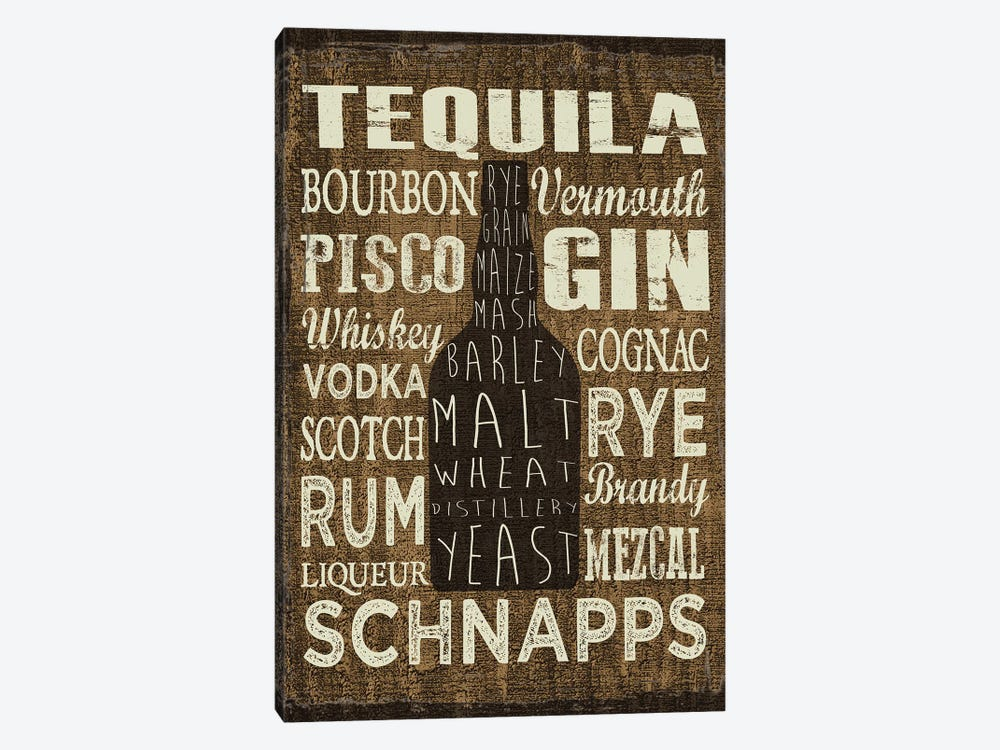 Liquor Sign III by Erin Clark 1-piece Canvas Wall Art