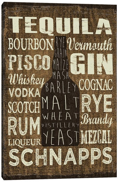 Liquor Sign III Canvas Art Print
