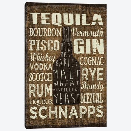 Liquor Sign III Canvas Print #ECK303} by Erin Clark Canvas Art