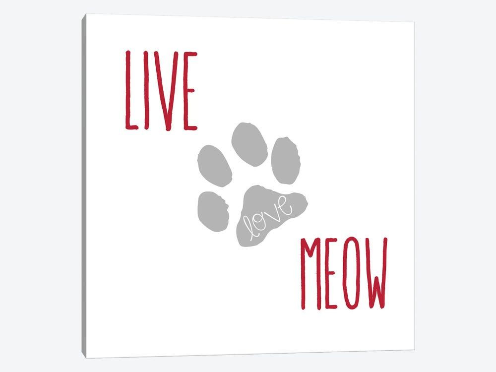 Live Love Meow II by Erin Clark 1-piece Canvas Wall Art
