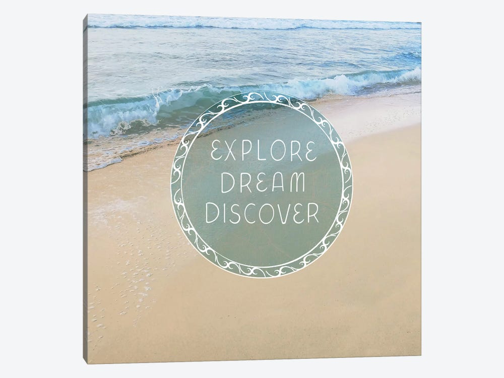 Beach Sayings I by Erin Clark 1-piece Canvas Art