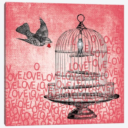 Love Birds 3-Piece Canvas #ECK311} by Erin Clark Canvas Print