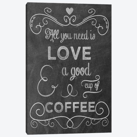 Love Coffee Canvas Print #ECK312} by Erin Clark Canvas Print
