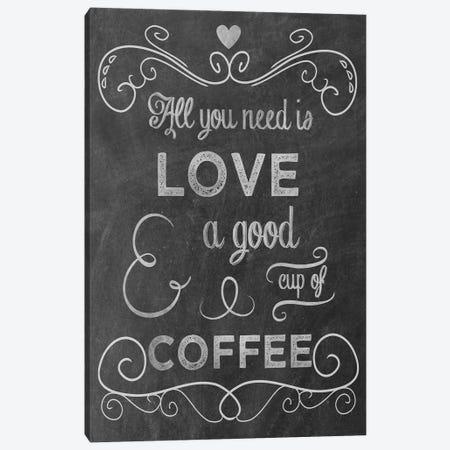 Love Coffee Canvas Print #ECK312} by Erin Clark Canvas Print