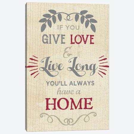 Love Home Canvas Print #ECK314} by Erin Clark Canvas Wall Art