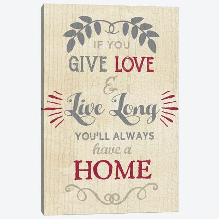 Love Home Canvas Print #ECK314} by Erin Clark Canvas Wall Art