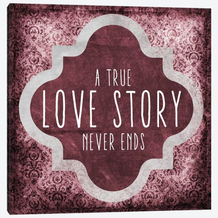 Love Story Canvas Print #ECK317} by Erin Clark Canvas Wall Art