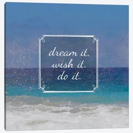 Beach Sayings II Canvas Print #ECK31} by Erin Clark Canvas Art Print
