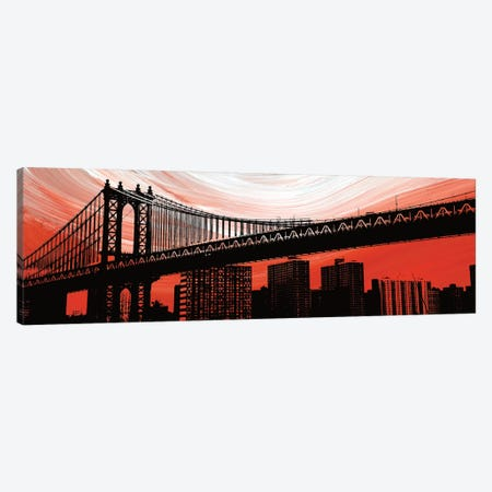 Manhattan Bridge Aura Canvas Print #ECK322} by Erin Clark Canvas Wall Art