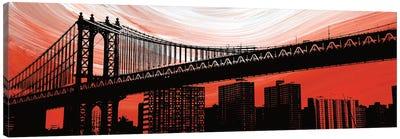 Manhattan Bridge Aura Canvas Art Print