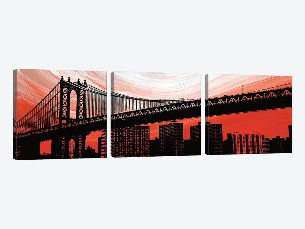 Manhattan Bridge Aura by Erin Clark 3-piece Art Print
