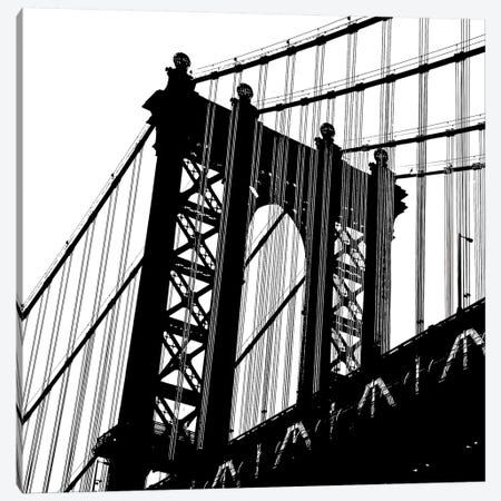 Manhattan Bridge Silhouette Canvas Print #ECK323} by Erin Clark Canvas Wall Art
