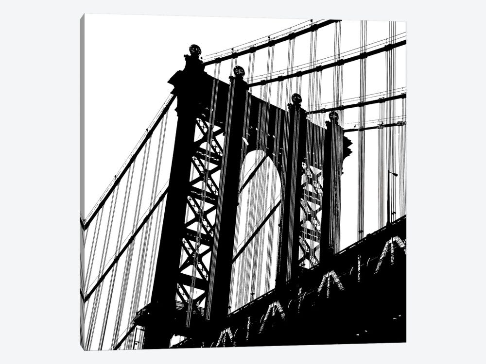Manhattan Bridge Silhouette by Erin Clark 1-piece Canvas Art