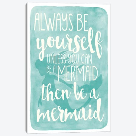 Mermaid Canvas Print #ECK326} by Erin Clark Art Print