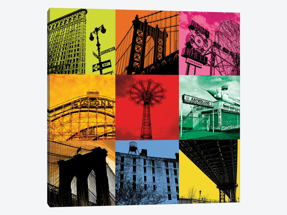 New York Nine by Erin Clark 1-piece Canvas Art