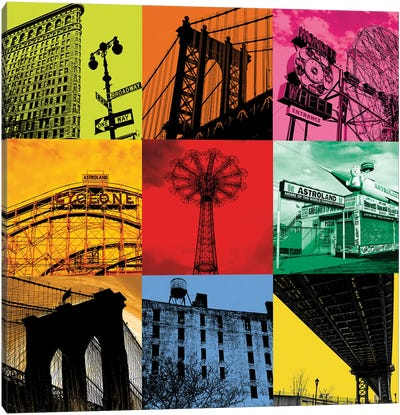 New York Nine Canvas Art Print
