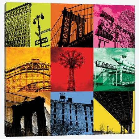 New York Nine Canvas Print #ECK334} by Erin Clark Canvas Art