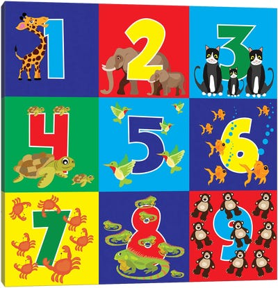 Number Puzzle Canvas Art Print