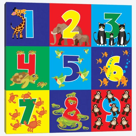 Number Puzzle 3-Piece Canvas #ECK336} by Erin Clark Canvas Wall Art