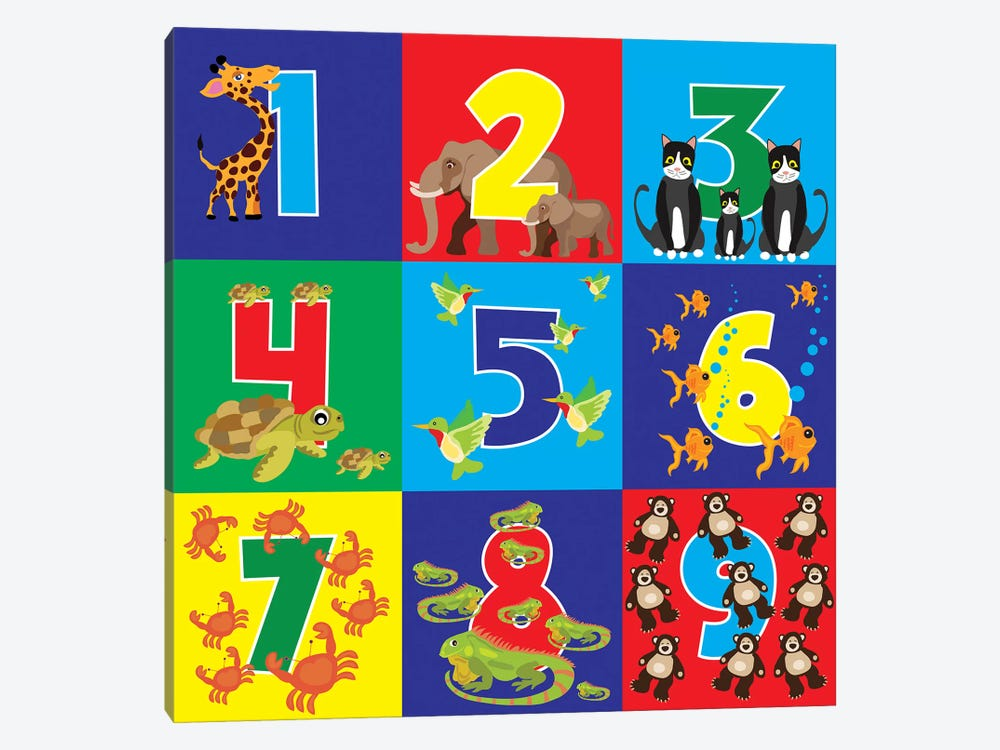Number Puzzle by Erin Clark 1-piece Canvas Art