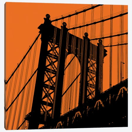 Orange Manhattan Canvas Print #ECK339} by Erin Clark Art Print