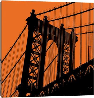 Orange Manhattan Canvas Art Print
