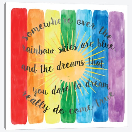 Over The Rainbow Canvas Print #ECK340} by Erin Clark Canvas Art