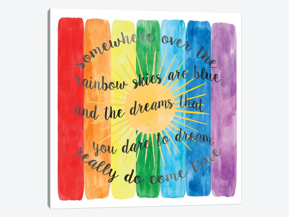 Over The Rainbow by Erin Clark 1-piece Canvas Art Print