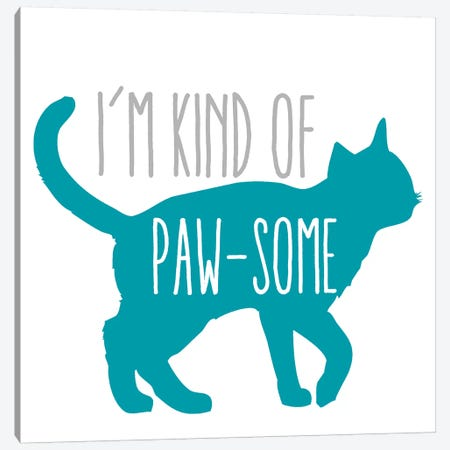 Pawsome Cat Canvas Print #ECK343} by Erin Clark Canvas Wall Art