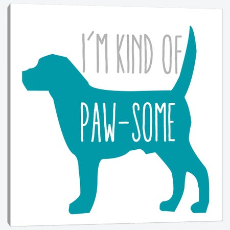 Pawsome Dog Canvas Print #ECK344} by Erin Clark Art Print