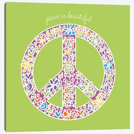 Peace Is Beautiful Canvas Print #ECK346} by Erin Clark Art Print
