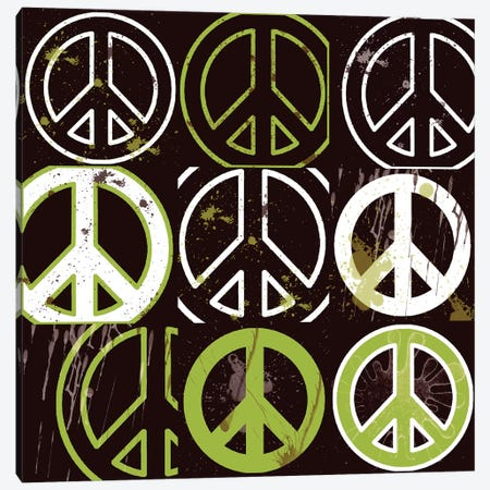 Peace Mantra Green Canvas Print #ECK350} by Erin Clark Canvas Print