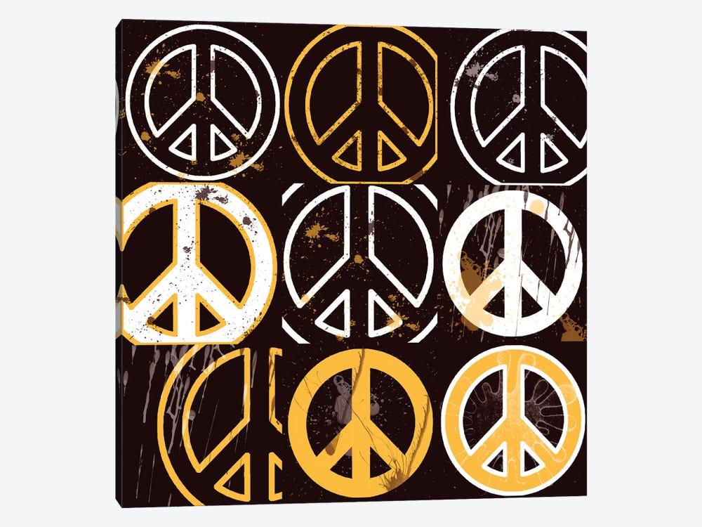 Peace Mantra Yellow by Erin Clark 1-piece Art Print
