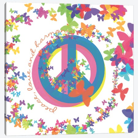 Peace, Love, And Harmony Canvas Print #ECK355} by Erin Clark Canvas Wall Art