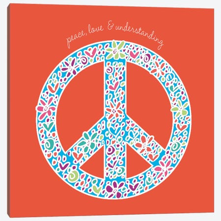 Peace, Love, And Understanding Canvas Print #ECK356} by Erin Clark Canvas Art