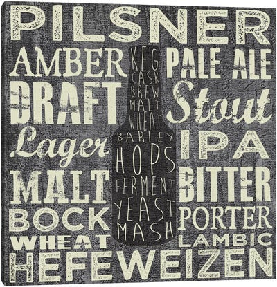 Beer Sign III Canvas Art Print