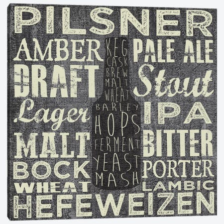 Beer Sign III Canvas Print #ECK35} by Erin Clark Canvas Art