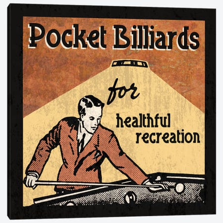 Pocket Billiards Canvas Print #ECK363} by Erin Clark Canvas Wall Art