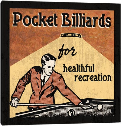 Pocket Billiards Canvas Art Print