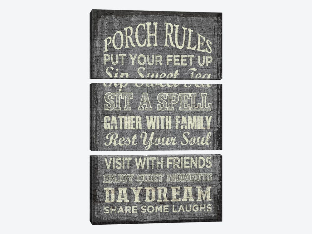 Porch Rules by Erin Clark 3-piece Canvas Art