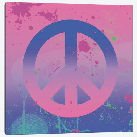 Psychedelic Peace Canvas Print #ECK368} by Erin Clark Canvas Art
