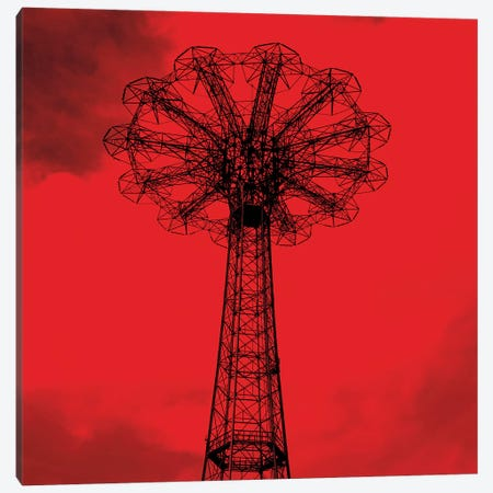 Red Parachute Jump Canvas Print #ECK371} by Erin Clark Art Print